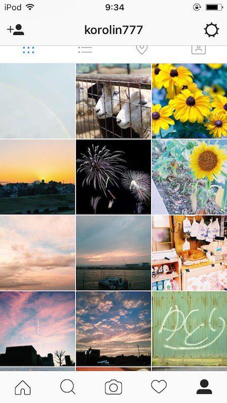instagramの画面イメージ
